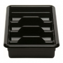 Black 4 Compartment Cutlery Box 1120CBP110