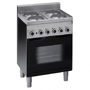 Electric range, 4 plates, 1 electric convection oven with electric grill 6060CFE