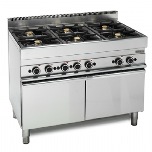 Gas range, 6 burners, 1 maxi gas oven 65110CFGG