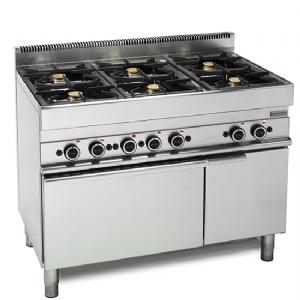 Gas range, 6 burners, 1 gas oven, 1 closed cabinet 65110CFG