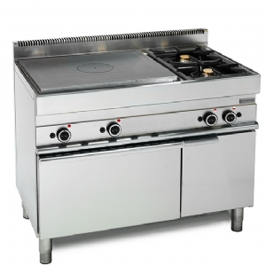 Gas solid top, 2 burners, 1 gas oven, 1 closed cabinet 65110TPFG