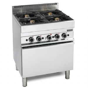 Gas range, 4 burners, 1 electric convection oven 6570CFGE