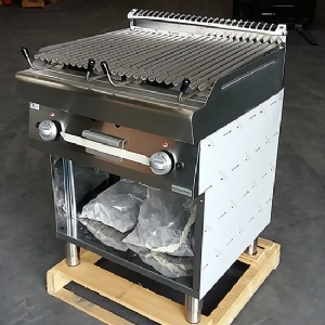 gas lava-stone grill on open cabinet 7070GRLBE