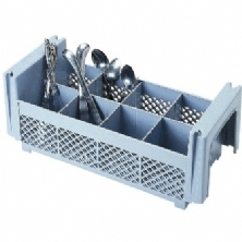 Soft Gray, Half Flatware Basket, No Handles