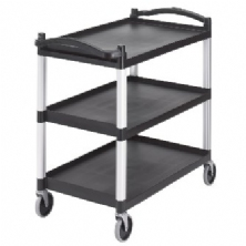 Black Three Shelf Utility Cart (Unassembled)