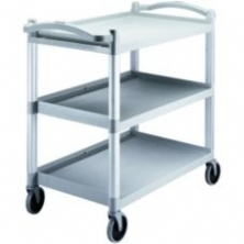 Gray 3 Shelf Knockdown Utility Cart