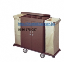 GIỎ ĐỰNG DỊCH VỤ CÓ NẮP ,Guess Room Service Cart without cover D-203