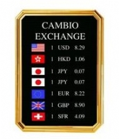 Exchange rate board P-26