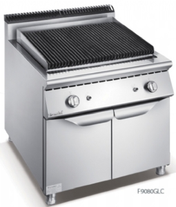 900 Series Gas Lava Rock Grill With Cabinet F9080GLC