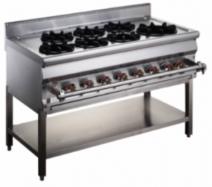 1200 Asian Gas Range A Serie With Stand FAGGR-1207AS