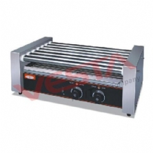 Hot Dog 7-roller Grill Cooker Machine