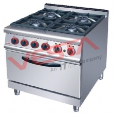 Gas Range With 4-Burner&Electric Oven