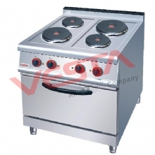 Electric 4-Plate Cooker With Electric Oven