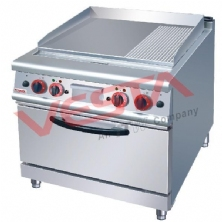 Electric Griddle (2/3 Flat&1/3 Grooved)With Electric Oven JZH-TU