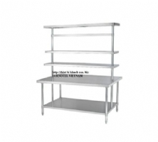 SS304 Work Bench With Overshelves
