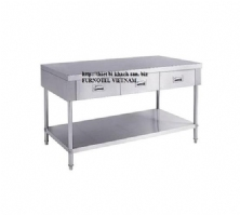 SS304 Work Bench With 3 Drawers & Under shelf