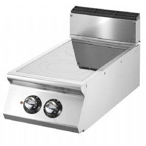 Induction plate, top version, 2 cooking zone Ø 220 mm each 3,5 kW VS7040INDT7