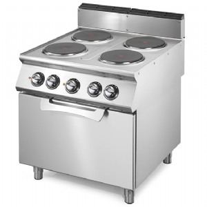 Electric range on static electric oven GN 2/1, 4 hot plates  VS7080CFE