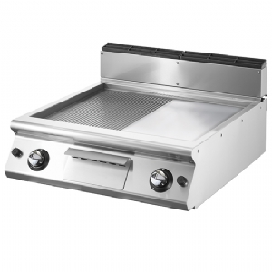 Gas griddle, top version, ½ smooth, ½ ribbed plate VS7080FTRGVT