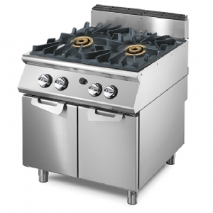 Gas range with 2 burners each 16 kW on cabinet with doors VS7080PCGPPW