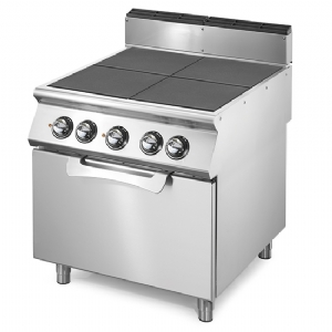 Electric range with tilting plates on electric static oven GN 2/1 VS9080CFER