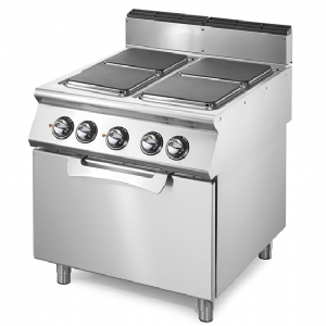 Electric range on static electric oven GN 2/1, 4 square hot plates VS9080CFES
