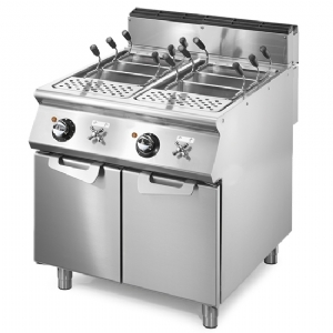 Electric pasta cooker, 2 GN 1/1 wells, capacity 2x 40 litres, fixed heating elements  VS9080CPES