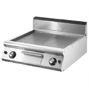 Gas griddle, top version, ribbed chromed plate VS9080FTRRGVC