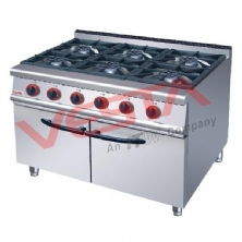 Gas Range6-Burner With Cabinet ZH-RA-6