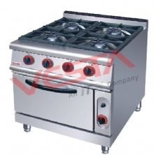 Four-head gas stove with furnace ZH-RQ-4
