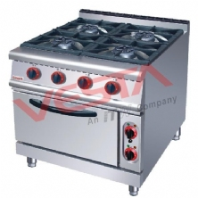 Four-head gas cooker with electric oven ZH-TQ-4