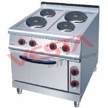 Electric 4-Plate Cooker With Oven ZH-TT-4