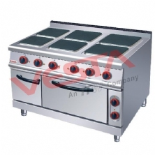Electric 6 Hot-Plate Cooker With Oven  ZH-TT-6A